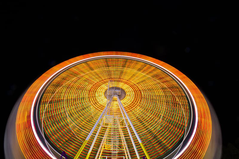 Time-lapse photography of ferris wheel