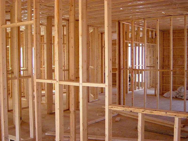 Brown wooden house interior frame