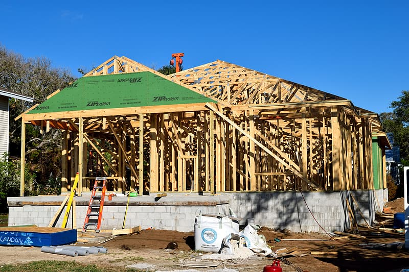 Closeup photo of brown construction site