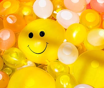 Yellow and white water balloons
