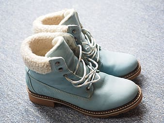 Teal Timberland work boots