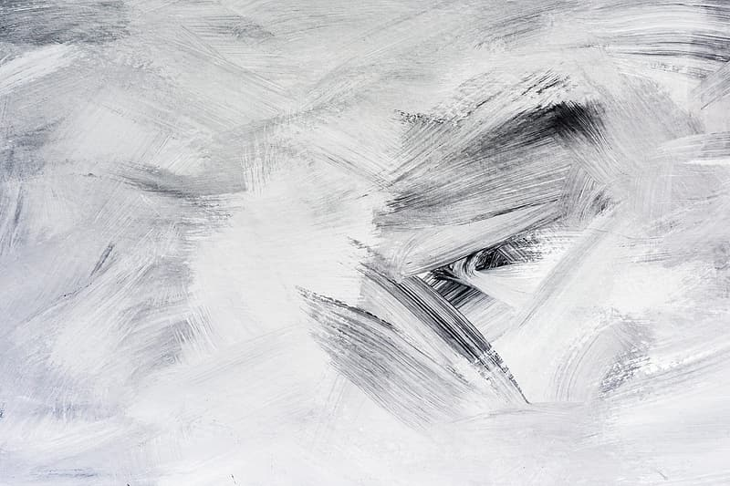 White, gray, and black abstract art