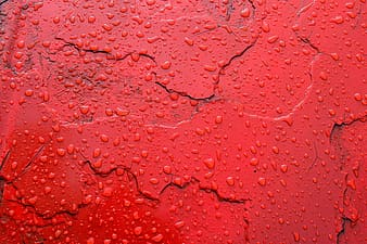Wet red paint