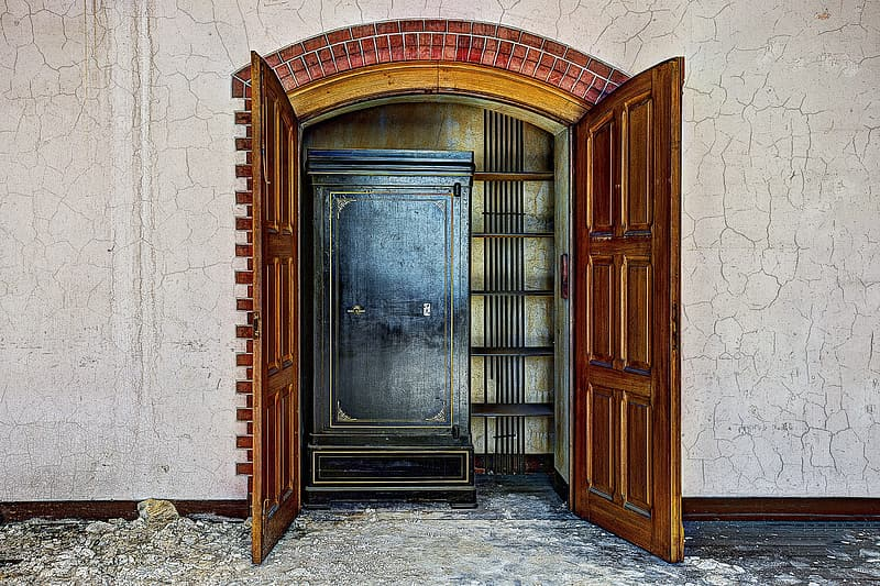 Photography brown wooden door