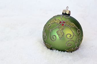 Green and gray bauble