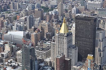 High-angle view of high-rise buildings