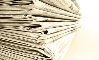 Close-up photo of newspapers