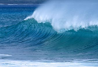 Ocean wave time lapse photography