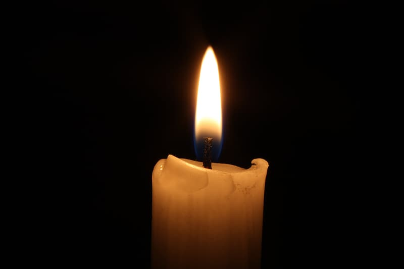 White lighted candle