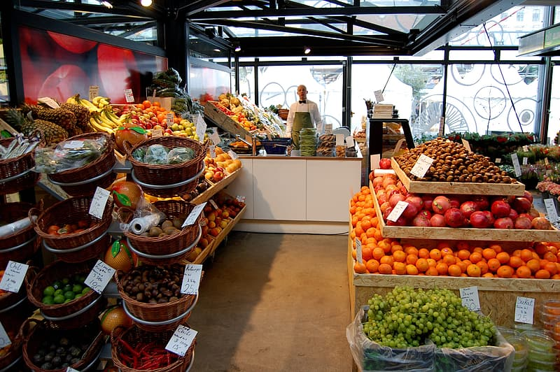 Variety of fruits in basket