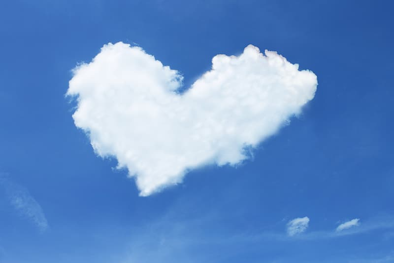 Heart-shaped clouds