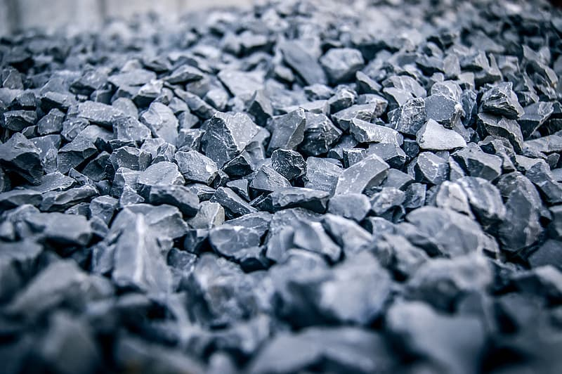 Black rocks in selective focus photography