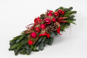 Red and green Christmas decor