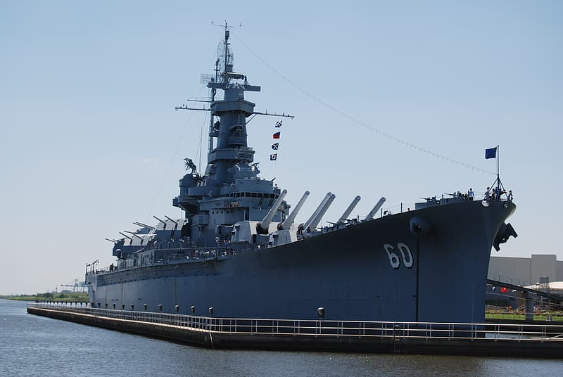 Battle ship on body of water