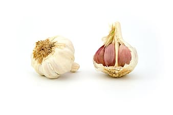 Two white garlics
