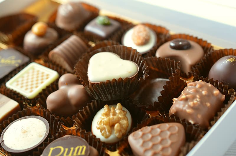 Assorted-shape chocolate in box