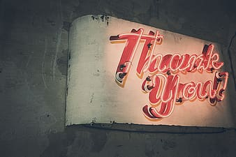 Thank You neon signage