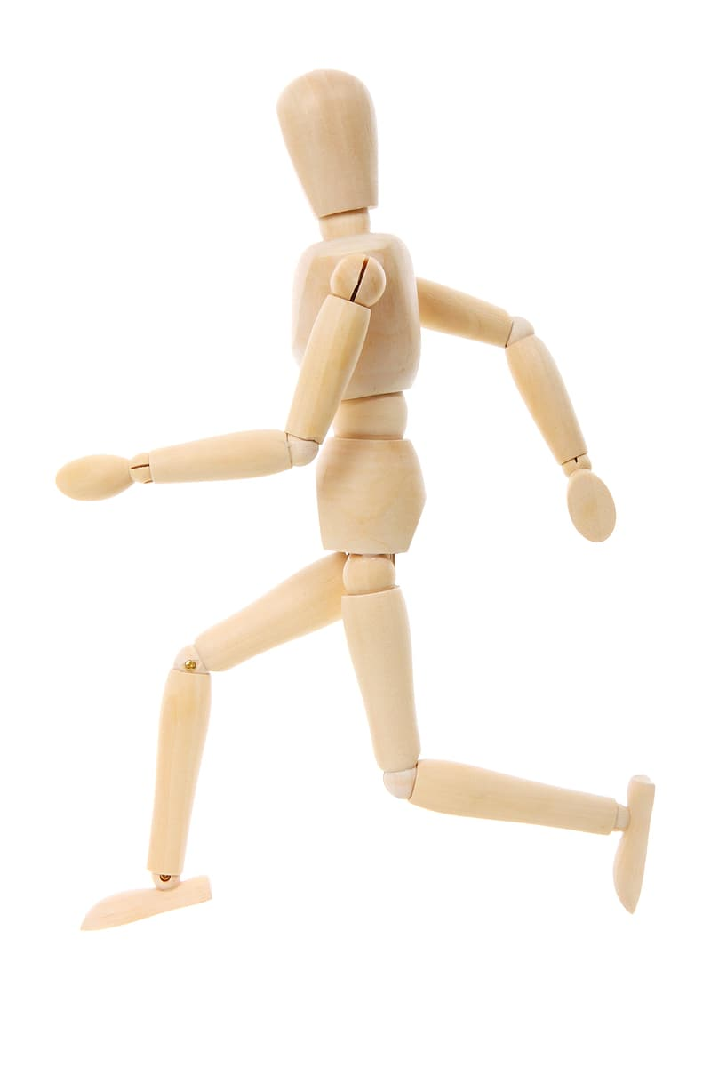 Photo of brown wooden joint action figurine
