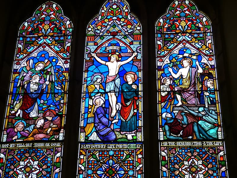 Religious stained glass art