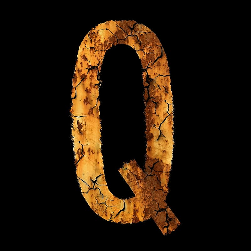 Brown letter b with black background