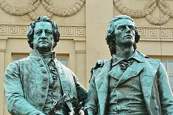 Two male statues