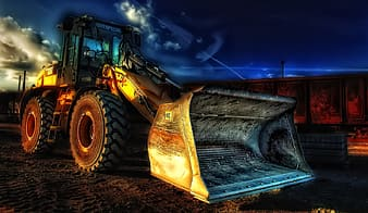 Photo of front loader digital wallpaper