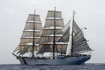 White galleon ship on body of water
