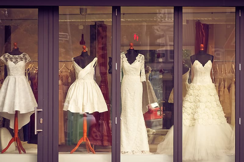Photography of women's assorted dresses display