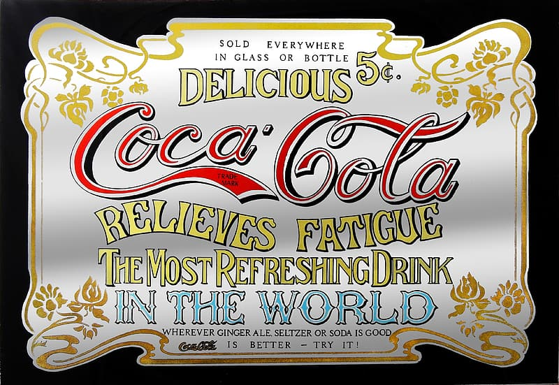 Delicious Coca-Cola Relieves Fatigue poster