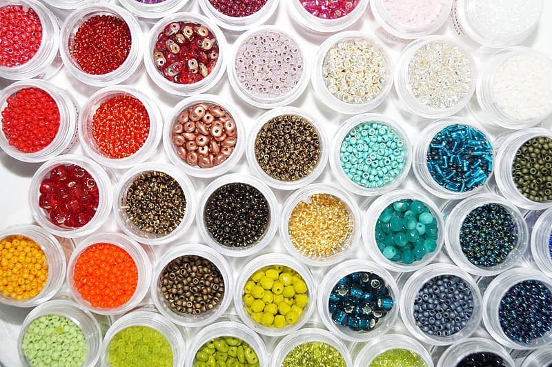 Assorted beads collection