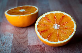 Orange fruit sliced