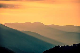 Scenery of a mountain during sunset