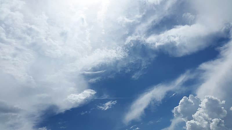 Clouds graphic wallpaper