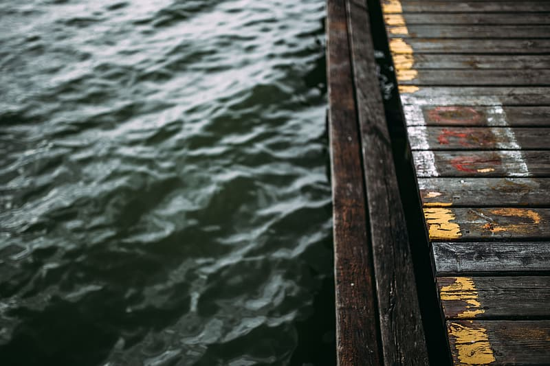 Old pier over a lake