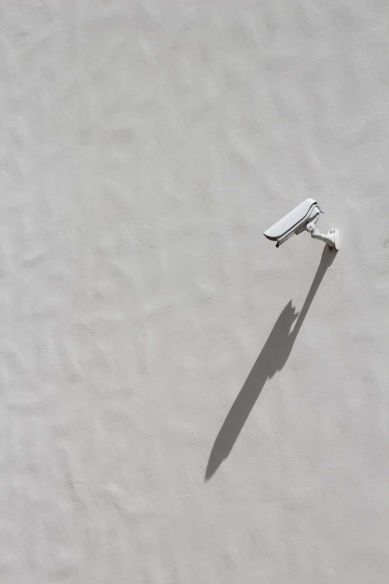 White bullet-type security camera