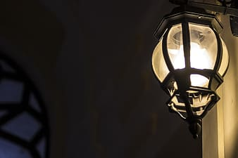 Shallow focus photo of sconce