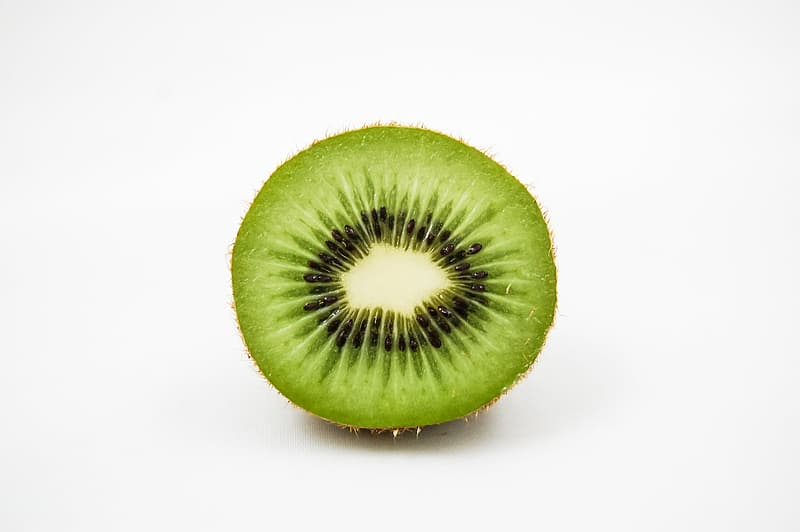 Slice green kiwi fruit