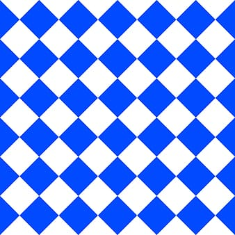 Blue and white checked pattern