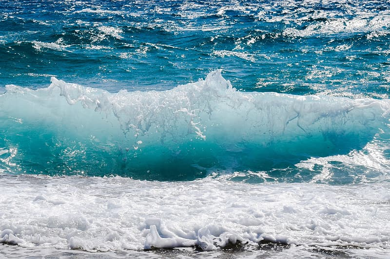 Sea wave time lapse photography
