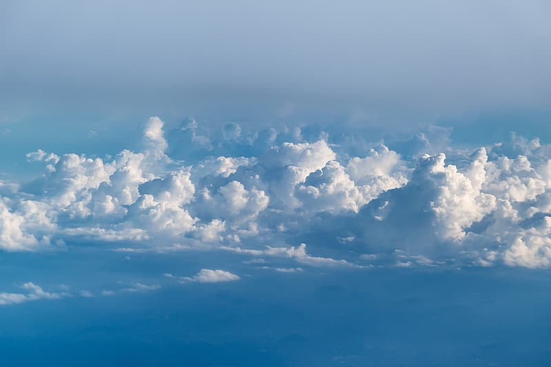 Bird's eye view of white clouds