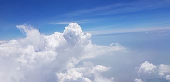 White and blue clouds during daytime
