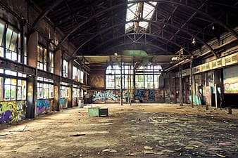 Abandone factory indoor