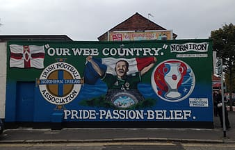 Street Art in Belfast, Northern Ireland for the Euro 2016 Football tournament.