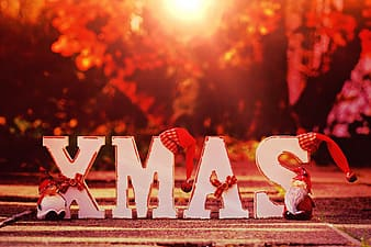 Xmas freestanding letters