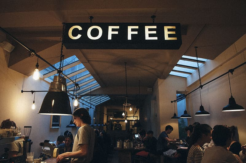 Interior photography of Coffee shop