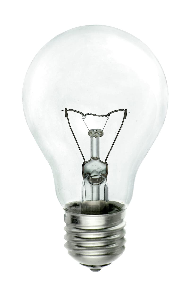Close up photo of turned off light bulb