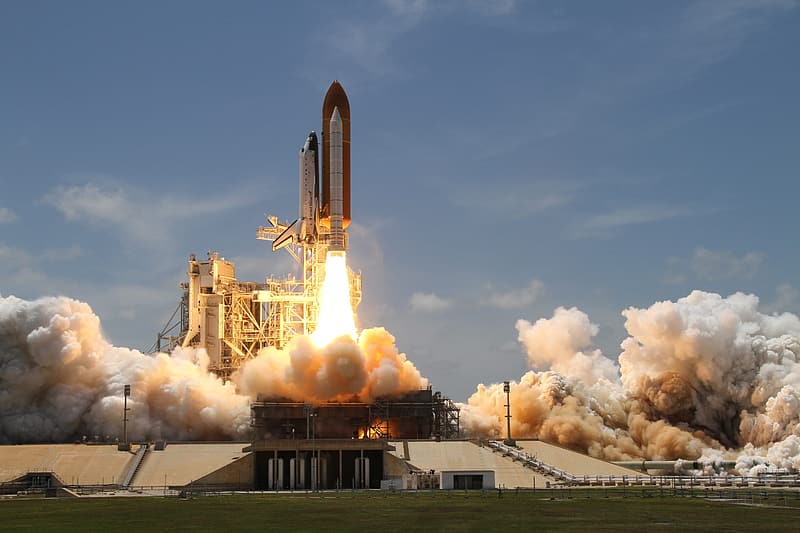Launching of space shuttle