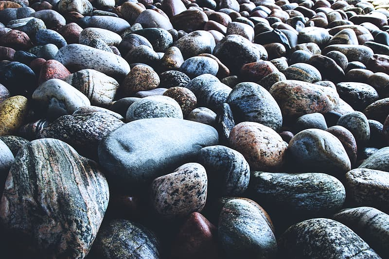 Pebbles and rocks on the beach