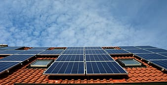 Selective photograph of solar panel
