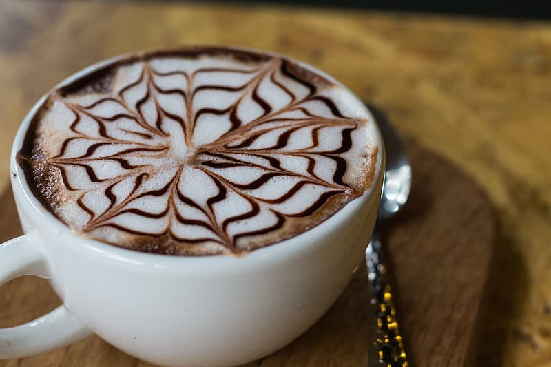 Latte in white cup
